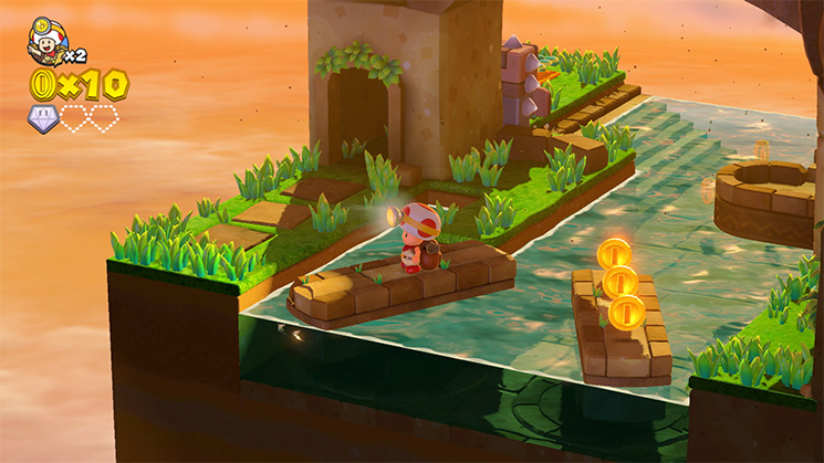 Captain Toad Treasure Tracker Switch Toad ihmettelee