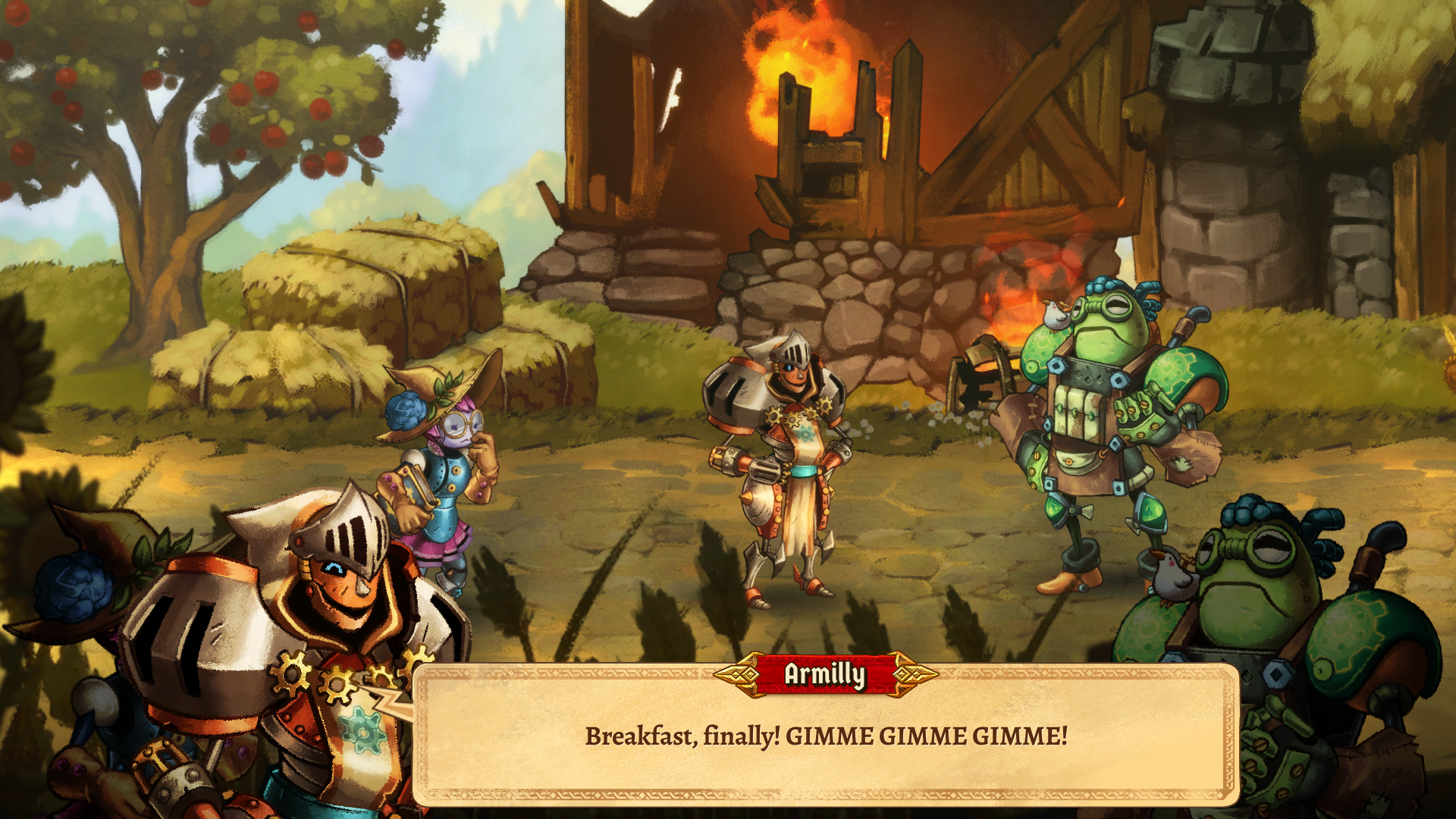 SteamWorld Quest Armilly ja aamupala
